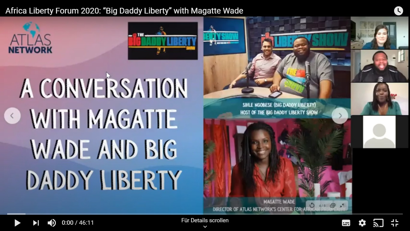 "Africa Liberty Forum 2020: ""Big Daddy Liberty"" with Magatte Wade"